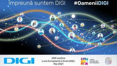 """Luna Europeană a Diversității:DIGI lansează campania """"Împreună suntem DIGI. #OameniiDigi"""""""