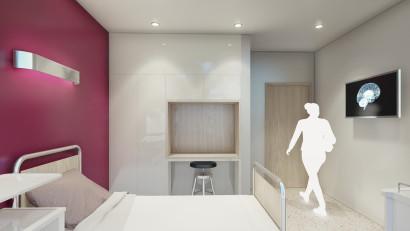 Studioul de arhitectură TESSERACT semnează conceptul noii clinici private de neurologie Neuroaxis, în clădirea de birouri U Center din centrul Bucureștiului