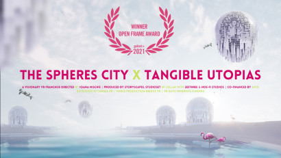 The Spheres City x Tangible Utopias, franciza VR regizată de Ioana Mischie, câștigă prestigiosul Open Frame Award, la goEast Film Festival 2021