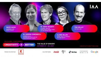 """Conferința globală IAA """"Creativity4Better"""" revine în 2021 cu cea de-a 5-a ediție. Tema ediției din 2021: The Value of Bravery"""