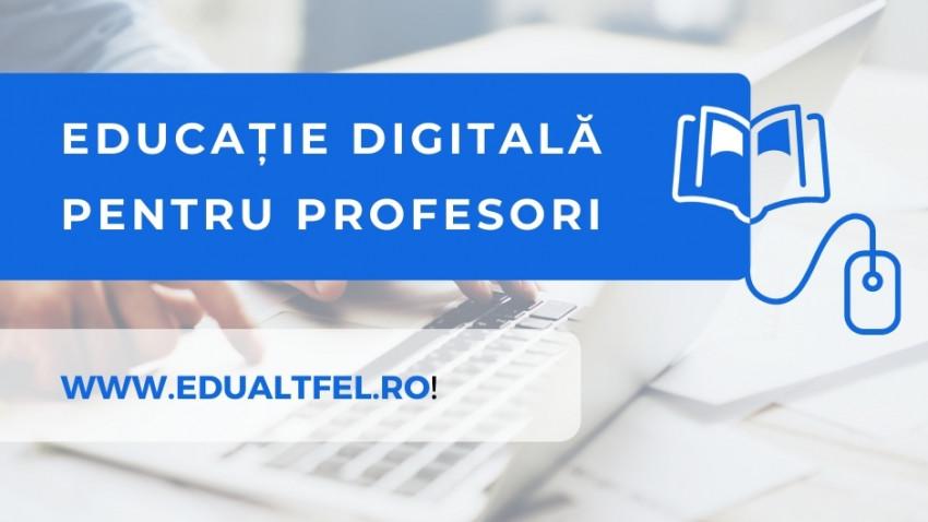 Edu altfel desfășoară un proiect de educație digitală pentru 300 de cadre didactice din România - proiect finanțat de Start ONG