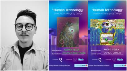 """[Human, Art & Tech] Andrei Felea: Prin simbolul amprentei, sugerez sentimentul de copleșire în ceea ce privește problemele """"omului high-tech"""""""