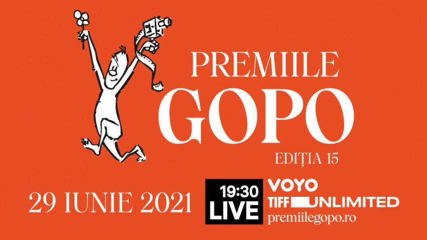 Gala Premiilor Gopo 2021: 29 iunie, de la 19:30 LIVE peVOYO, TIFF Unlimited și premiilegopo.ro.Actorul Adrian Nicolae prezintă evenimentul