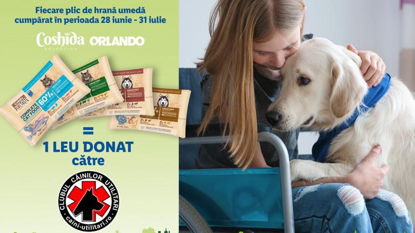 Clienții Lidl România vor putea susține asociația Clubul Câinilor Utilitari și programele de pregătire pentru câinii de utilitate socială printr-o nouă campanie derulată de retailer