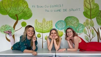 Artiștii pepereți au desenat noul sediu ViitorPlus cu ilustrații sustenabile