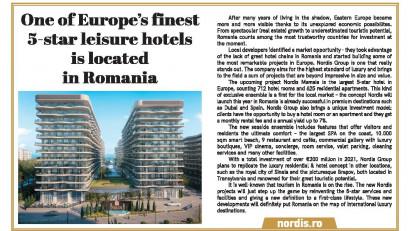 """Prestigioasa publicație Financial Times: """"Nordis Mamaia 5***** va fi cel mai mare hotel de leisure din Europa"""""""