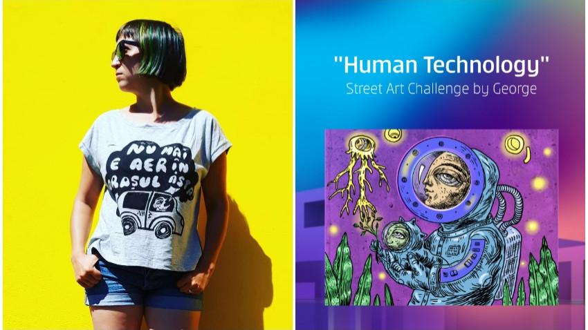 [Human, Art & Tech] Maria Balan: Mi s-a parut ca brieful se potriveste cu ceea ce explorez acum si anume viziunea unui viitor in care tehnologia este atotputenica