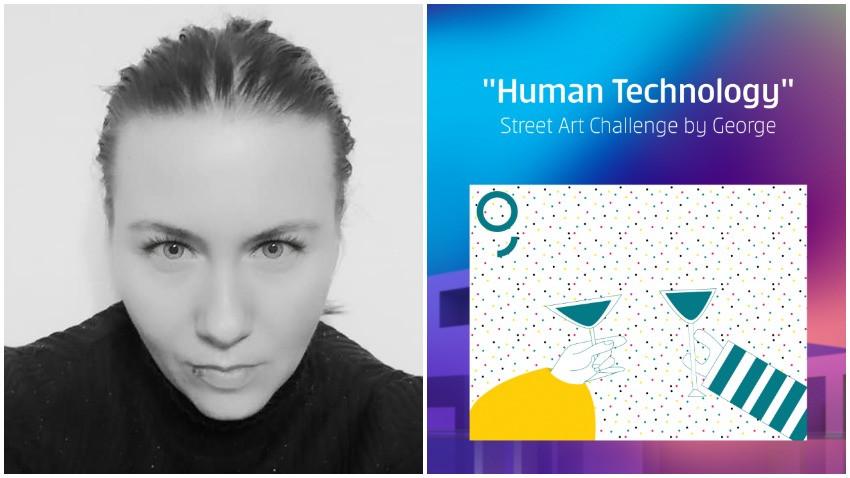 [Human, Art & Tech] Liudmila Mehedinteanu: M-am gandit initial sa ilustrez o petrecere cu oameni si roboti