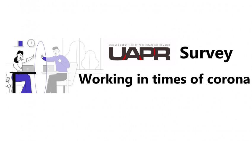"UAPR prezinta rezultatele studiul ""Working in times of corona"""