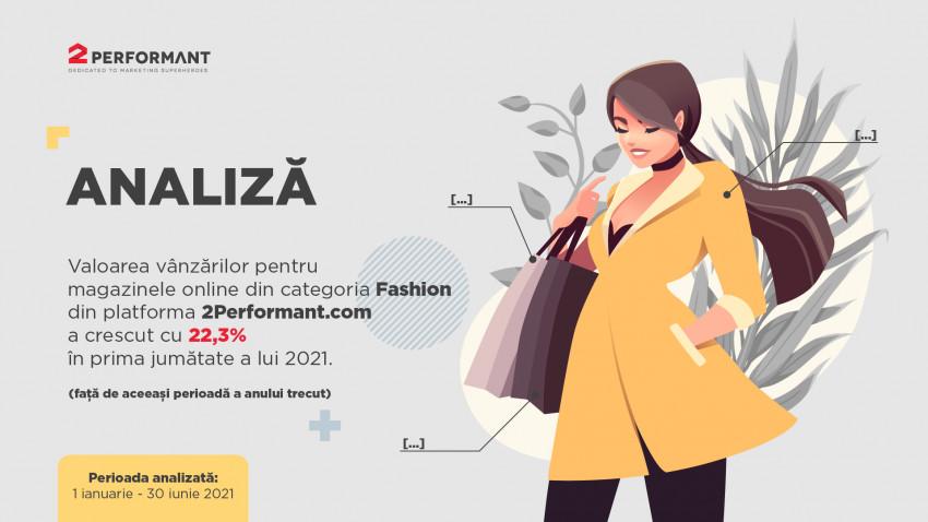 Analiză e-commerce 2Performant:în prima jumătate a anului, românii au început să cumpere iarhaine de stradă și birou și au cheltuit online cu 22,3% mai mult decât anul trecut pe produse de fashion