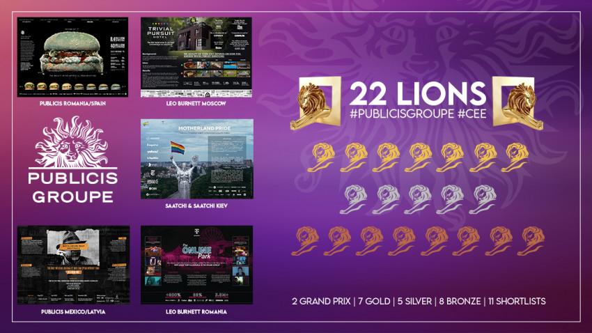 Publicis Groupe România câștigă 10 premii la Cannes Lions 2021, prin campaniile Leo Burnett Bucharest și Publicis România
