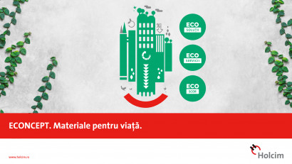 """Compania Holcim lansează """"ECONCEPT - Materiale pentru viață""""în colaborare cu agenția de comunicare digitală Ideologiq"""