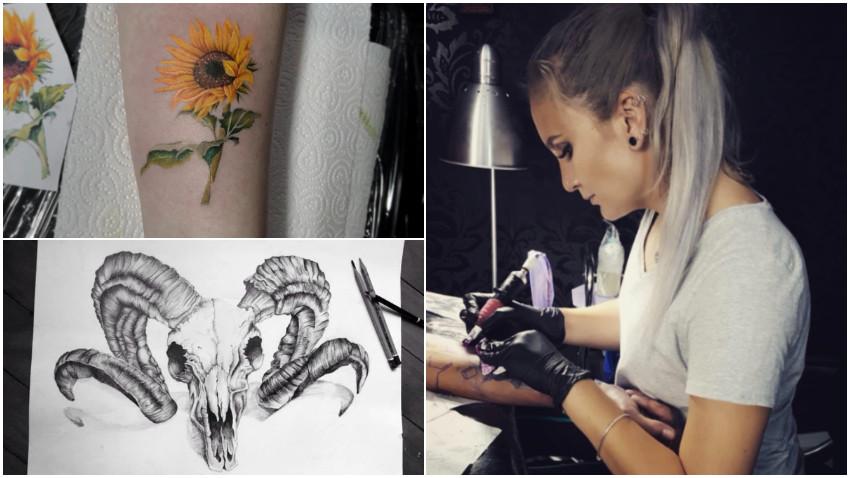 [Arta pielii] Lavinia Azot: Primul meu tatuaj a fost o randunica pe omoplatul stang facut la 14 ani, binenteles fara ca parintii mei sa stie despre asta.
