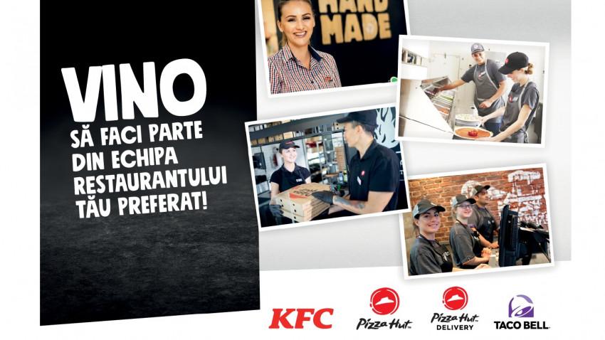 Campanie de recrutare inedită în București.KFC, Pizza Hut și Taco Bell organizează un târg de joburi față în față