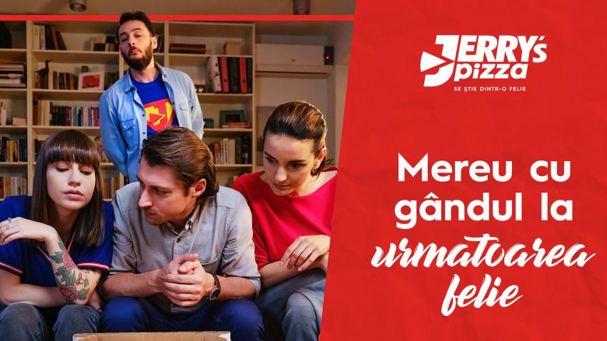"""Socializare, jocuri de strategie și gustul care se știe dintr-o felie: ontheroof semnează cea mai nouă campanie Jerry's Pizza - """"Strategie pentru următoarea felie"""""""