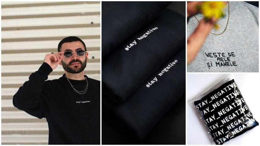 [Creative Business] Eduard Cîrstea: Stay_negative e un brand de streetwear la început de drum, apărut dintr-un gând mai vechi, de când îmi imprimam bluze pe la Unirii