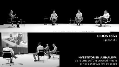 Cine amenință jurnalismul de investigație? Seria EIDOS Talks continuă cu o dezbatere intensă despre evoluția presei din România. Invitați: Sergiu Toader, Cătălin Tolontan, Mihai Voinea și Petrișor Obae