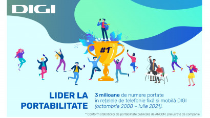 DIGI, lider la portabilitate cu peste 3 milioane de numere portate