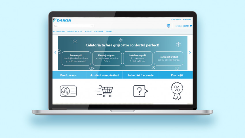 Daikin România lansează propriul magazin online și devine primul producător de sisteme de aer condiționat care se adresează direct consumatorilor