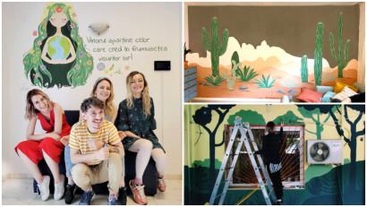Ce se întâmplă când patru oameni sunt conectați de pasiunea pentru natură și pictat? Se nasc povești Pepereți
