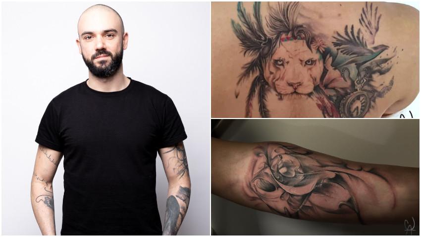 [Arta pielii] Dragoș Statie: Oricât de dificili pot fi oamenii, am realizat că cel mai dificil este să îți tatuezi persoanele apropiate