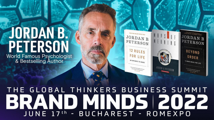 Jordan B. Peterson is coming to Romania at BRAND MINDS!