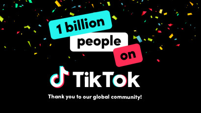 TikTok anunță atingerea pragului de 1 miliard de utilizatori la nivel global