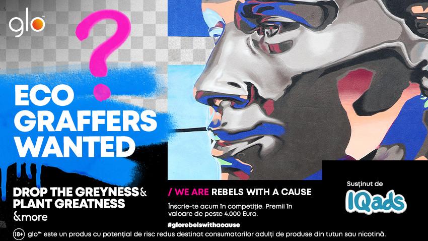 Eco Graffers Wanted by glo™: Artiști & rebeli, zidurile Bucureștiului vă așteaptă