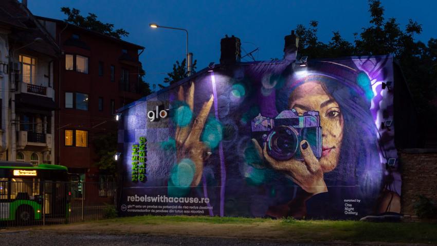 Nimeni Celebru, al treilea mural din campania glo™ Eco Graffiti