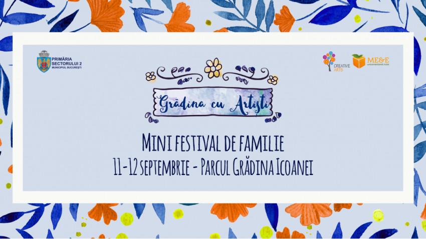 Concert, teatru pentru copii, ateliere și târg pe 11 și 12 septembrie la Grădina cu Artiști.Ultima ediție a Grădinii cu Artiști de anul acesta, în Parcul Grădina Icoanei din București