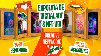 Mirinda România prezintă prima colecție de artă NFT într-o expoziție pe Calea Victoriei