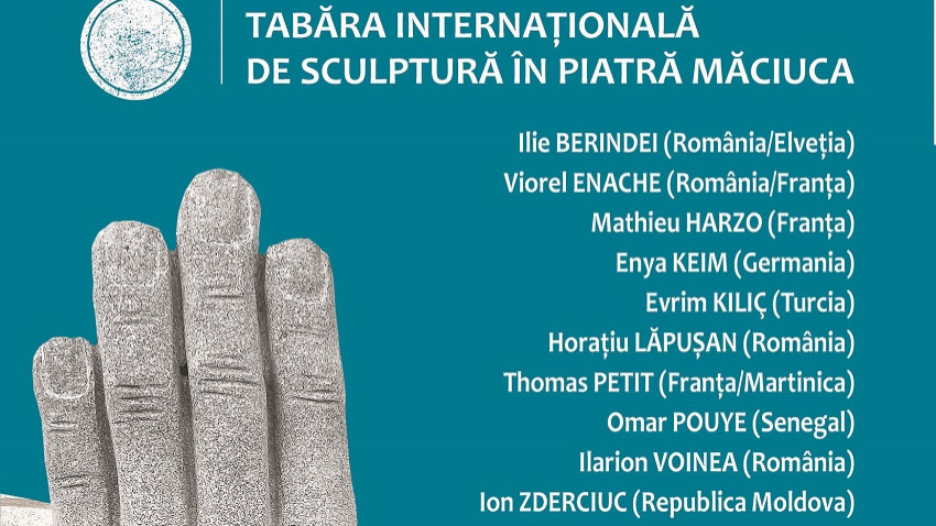 Expoziție a sculptorilor prezenți la cea de-a treia ediție a Taberei Internaționale de Sculptură în Piatră Măciuca, între 12 – 24 septembrie