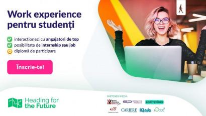Heading for the Future – programul care le ofera tinerilor o experiență de lucru prin care să-și descopere vocația, va incepe pe 6 noiembrie