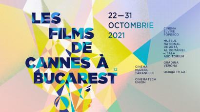Filmele românești premiate la Veneția și San Sebastián, în premieră națională la cea de-a 12-a ediție Les Films de Cannes à Bucarest,între 23 și 31 octombrie la Sala Auditorium a MNAR