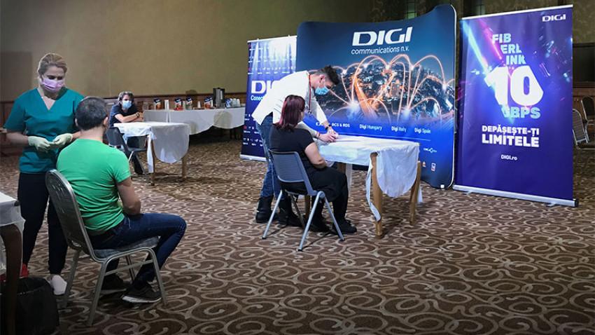 Peste 500 de persoane imunizate la centrele mobile organizate de Grupul DIGI