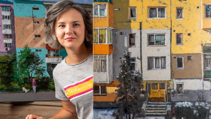 Magdalena Stavila: Am decis să pictez blocurile ca o recunoaștere dulce - amară a ceea ce suntem ca popor. Încă mai poartă urmele perioadei gri, comuniste. Și metehnele ei
