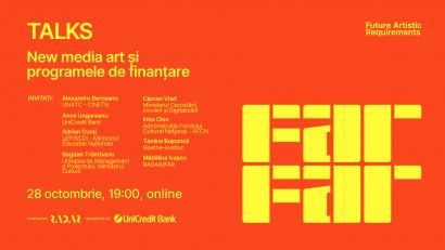 Platforma de educație și new media art - FAR - Future Artistic Requirements reunește Ministerul Culturii, Ministerul Educației, Ministerul Digitalizării, Cercetării și Inovației, profesioniști din corporate management și management cultural într-o discuți