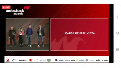 Campania #Leapșapentruviață câștigă premiulBEST INFLUENCER CAMPAIGNS la Webstock Awards