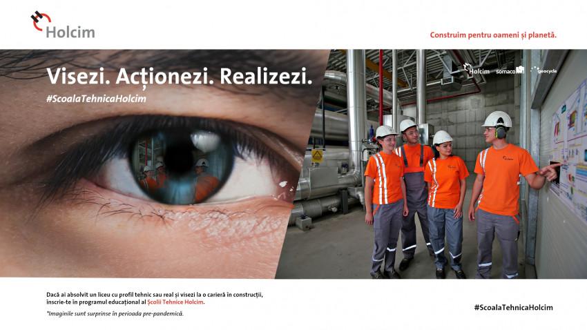 Începe Școala Tehnică Holcim. Compania va pregăti și angaja 20 de tineri în industria de construcții. Provocările acestui sector în atragerea tinerilor